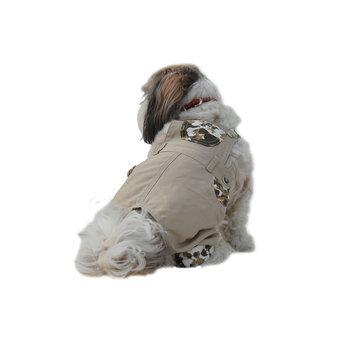 Anima Khaki Boy Dog Overalls, X-Small