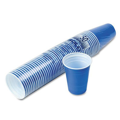 Solo P16BRL Plastic Party Cold Cups 16oz Blue 50/Pack