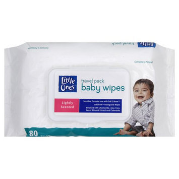 Kmart Corporation Baby Wipes, Lightly Scented, Travel Pack, 80 wipes