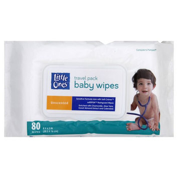 Kmart Corporation Travel Pack Baby Wipes, Unscented, 80 wipes