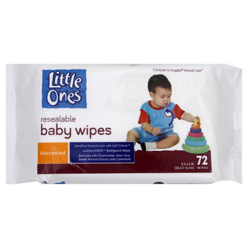 Little Ones Baby Wipes, Unscented, 72 wipes - KMART CORPORATION