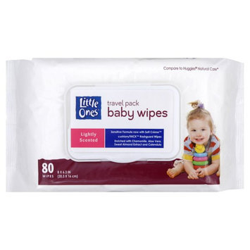 Kmart Corporation Travel Pack Baby Wipes, Lightly Scented, 80 wipes