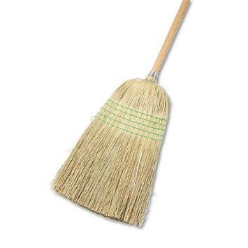 UNISAN Parlor Broom, Yucca/Corn Fiber Bristles, 42 Wood Handle, Natural