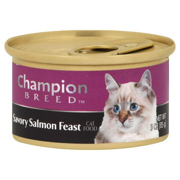 Champion Breed SALMON FEAST 3OZ CAN CAT FOOD - KMART CORPORATION