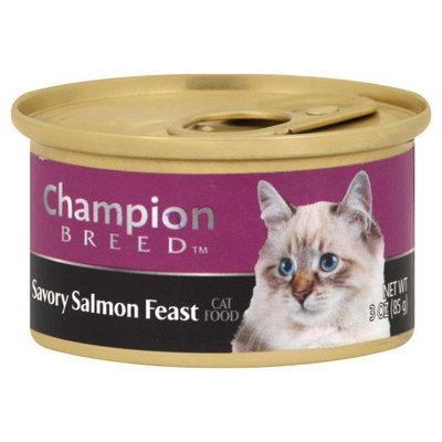 Champion Breed SALMON FEAST 3OZ CAN CAT FOOD - KMART CORPORATION