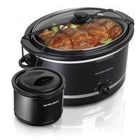 Hamilton Beach 5 Qt. Portable Slow Cooker with Bonus Warmer