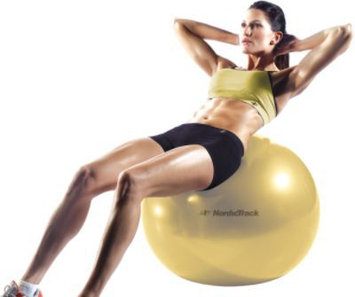 NordicTrack 55cm Exercise Ball (Yellow) - WEIDER HEALTH AND FITNESS