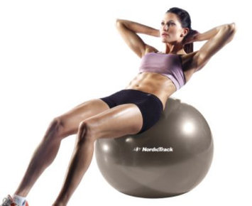 NordicTrack 75cm Exercise Ball (Silver) - WEIDER HEALTH AND FITNESS