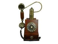 Ore International T0635 13 in. Classic Telephone - Mahogany