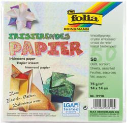 Global Art Crystal Embossing Folia Origami Iridescent Paper