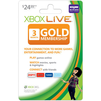Blackhawk Xbox 360 Live 3 Month Gold Card Membership $24.99 - SAFEWAY, INC.