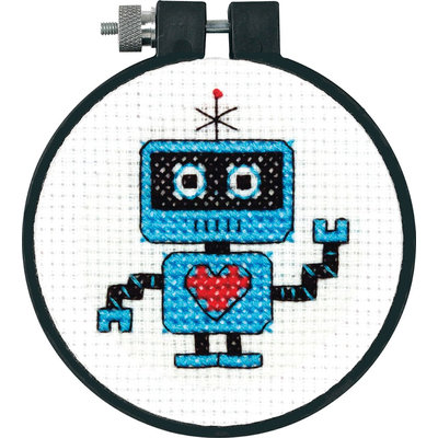 Dimensions Learn A Craft Robot Counted Cross Stitch Kit - DIMENSIONS ACQUISITION LLC