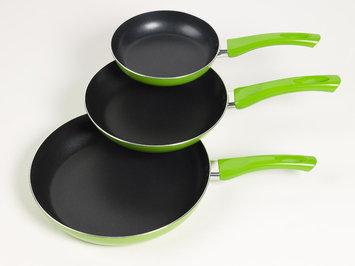Basic Essentials Green 3pc Fry Pan Set Multi