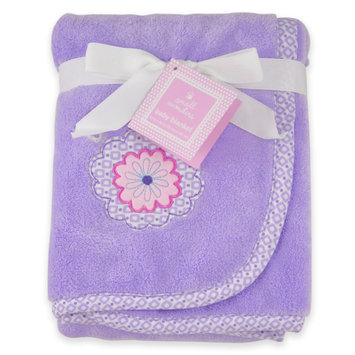 Cuddletime Baby Fluffy Blanket with Flower Embroidery - TRIBORO QUILT MFG. CORP.