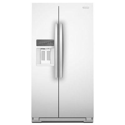 KitchenAid Counter Depth White Side-By-Side Refrigerator - KSC23C8EYW