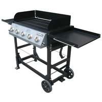Nexgrill 5-Burner Party Grill Black