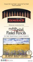 Alvin General Pencil Multicolored Pastel Pencils - 24 Count