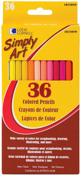 Loew-Cornell Simply Art Colored Pencils, 36/Pkg, Assorted Colors