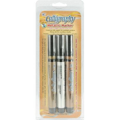 Yasutomo Calligraphy Metallic Markers, 2mm Tip, 3/Pkg