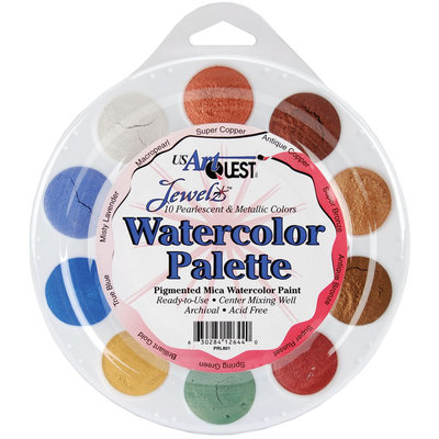 Us Artquest Jewelz Watercolor Palette, Metallics - ARTQUEST, INC.