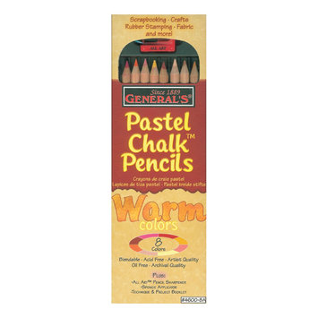 General Pencil Company GENERAL PENCIL Pastel Chalk Pencils, 8/Pkg, Warm