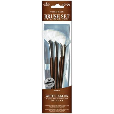 Royal Brush Brush Set Value Pack, White Taklon, 4-Pack, Fan