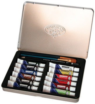Royal Brush 386412 Acrylic Painting Art Set with Tin