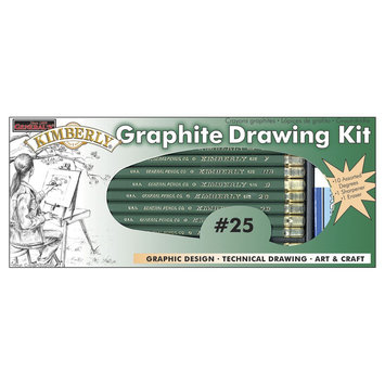 General Pencil Company General Pencil 412329 Kimberly Graphite Drawing Kit-12 Pieces