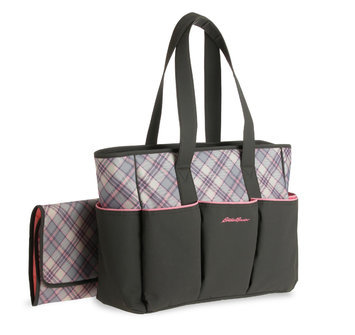 Eddie Bauer Organizer Diaper Bag Christine Black