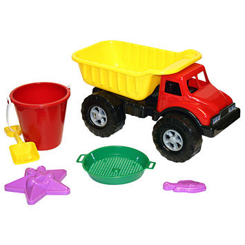 6 Pc. Dump Truck of Beach Toys - AMERICAN PLASTIC TOYS, INC.