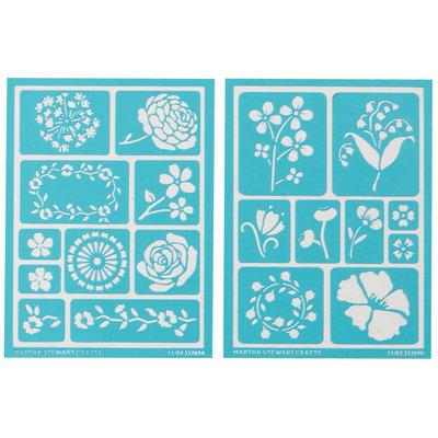 Plaid:craft Martha Stewart Crafts Martha Stewart Adhesive Stencils, Blossoms