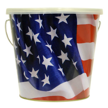 Lamplight Farms 16 Oz Flag Citronella Candle Bucket 1408203