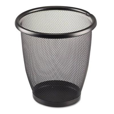 Safco Products Onyx Round Mesh Wastebasket, Steel Mesh, 3 Quarts, Black