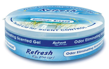 Refresh Your Car Gel Air Freshener 8-Ounce Summer Breeze Scent