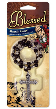 Blessed Rosary Air Freshener - Moonlit Grove