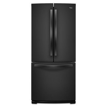 Whirlpool - 196 Cu Ft French Door Refrigerator - Black