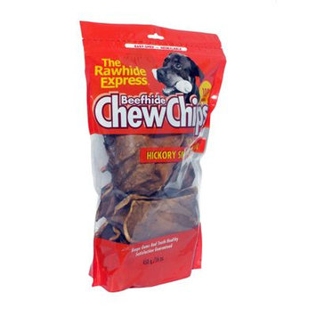 Rawhide Express Hickory Flavor Beefhide Dog Chew Chips - 1 lb Bag