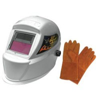 Astro Pneumatic 8075SE Solar Auto-Darkening Welding Helmet with FREE 13.5in Leat