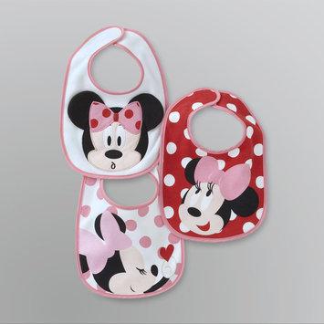 Disney Newborn Girl's Minnie Mouse Bibs - 3 Pack