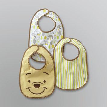 Disney Newborn Boy's Winnie the Pooh Bibs - 3 Pack