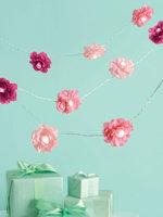Ek Success Martha Stewart Celebrate Decor 8-Foot Lighted Garland - Pink