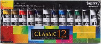 Liquitex 101038 Heavy Body Acrylic Paint 12-Color Classic Set