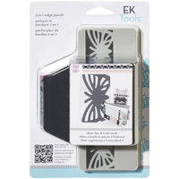 EK Success Slim Edger 2-in-1 Punch, Striped Butterfly
