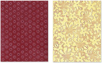Sizzix Textured Figgy Pudding Flower Rings/ Clusters Impressions Embossing Folders