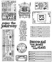 Stampers Anonymous Large Cling Rubber Stamp Set - Going Somewhere