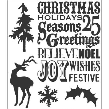 Aqualink Nevada, Llc Tim Holtz Cling Rubber Stamp Set-Seasons Silhouettes