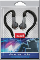 Maxell EH-130 Stereo Ear Hooks Silver/gray