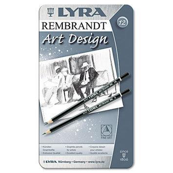 LYRA Graphite Art Pencils, Black, 12 per Pack