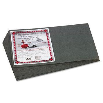 Pacon Riverside Construction Paper, 12 x 18, Slate Gray, 50 Sheets