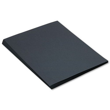 SunWorks Construction Paper, Heavyweight, 18 x 24, Black, 50 Sheets